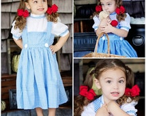 Modest Handmade Halloween Costume ---Deluxe Dorothy--- Child sizes up to 8