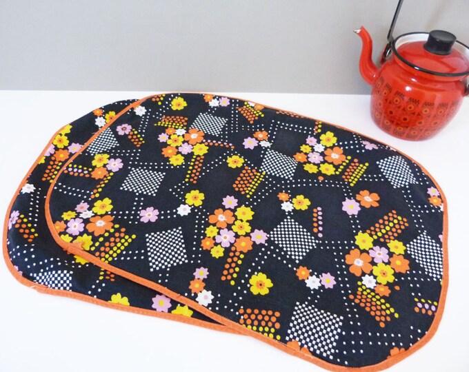 Vintage daisy cotton place mats