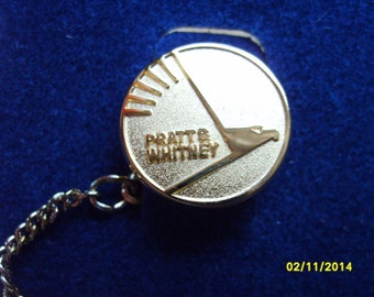 Pratt and Whitney Gold Tie Tack, Mens Accessories, Tie Tack