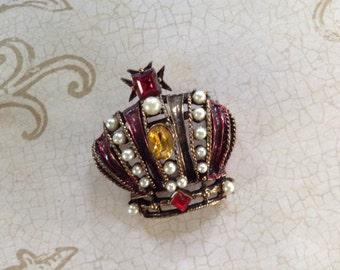 Vintage Weiss Crown Pin/Brooch