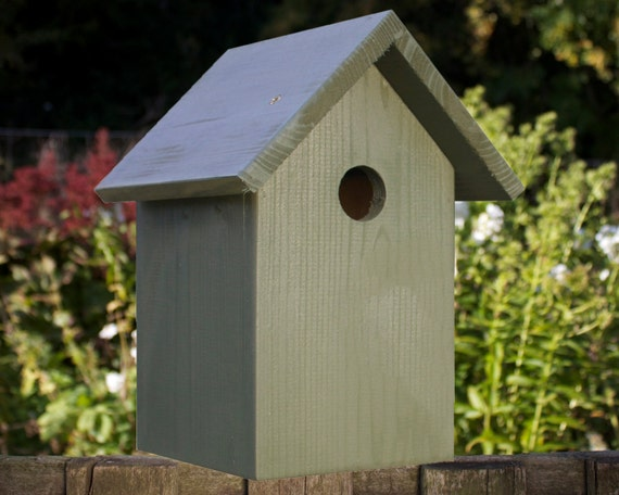 Bird Box, Dark Green. Can be personalised.