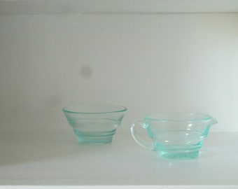 Vintage Swedish Sugar Bowl and Creamer Set