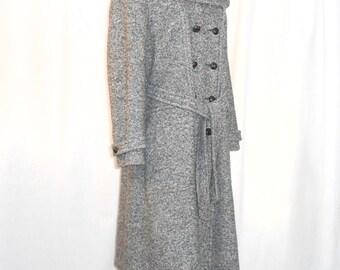 Womens Coats Maxi Coat Vintage Coat Double Breasted Wool Coat Long Wool Coat Military Coat