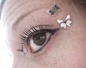 3pcs Butterfly Eye Bindi Sticker Dots - Teen Girl Womens Stocking Stuffer Gift - Teenage Girl Gift - Bohemian Fashion - Brown Eyeshadow