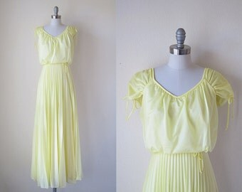 1970s Maxi Dress | Yellow | Lemoncello