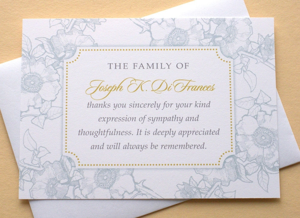 Thank You Sympathy Cards  BesikEightyCo