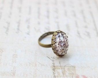 Light Lavender Cabochon Adjustable Ring