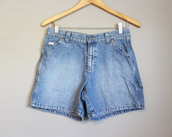 High Waisted Shorts Vintage Denim Blue Jeans Medium