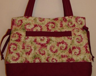 Quilted Purse Bag Quilted Tote Bag Handbag Quilted Bow Bag  Custom Made for You  by Quilted Creations By Me