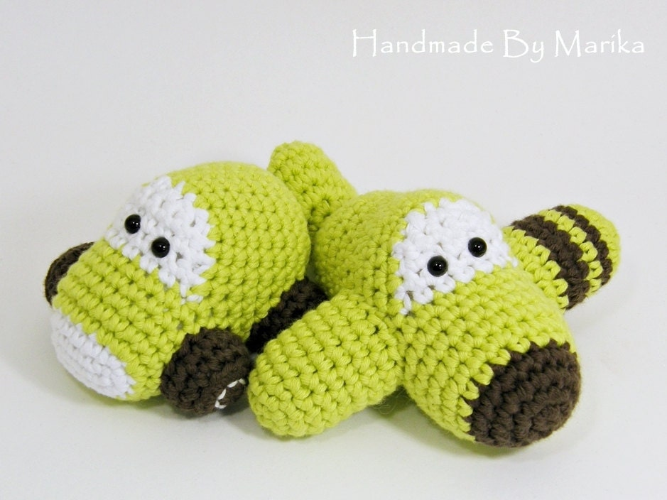 Amigurumi Plane Baby Mobile : Crochet toy baby rattles amigurumi airplane and car by ...