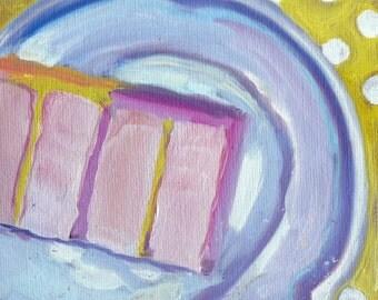 A Slice of Lemon Cake Original Painting
