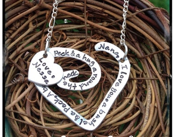 Mother's Day  - Gift for Her- Bushel and a Peck Necklace- Personalized Mommy Necklace  - I Love You A bushel & A Peck Necklace