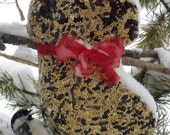Wild Bird Seed Feeder Big Stocking - Organic - Self Hanging- cake wreath