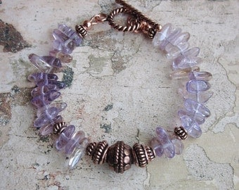 Ametrine and Copper Bracelet