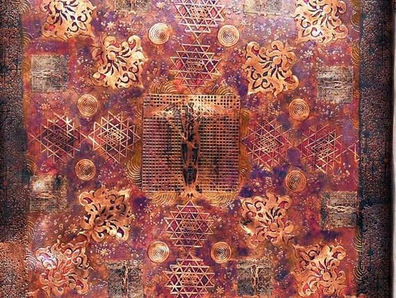 Copper Wall Art Acid Etched