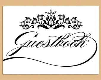 Printable Wedding Sign - Printable Guestbook Table Sign, Wedding Sign, Guestbook - Instant Download