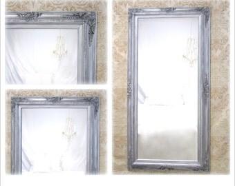 Full Length Mirror For Sale Vintage White Baroque Framed