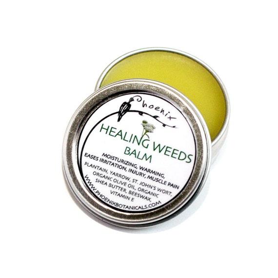 Healing Weeds Balm - organic - herbal remedy and moisturizing salve 1/2 oz tin