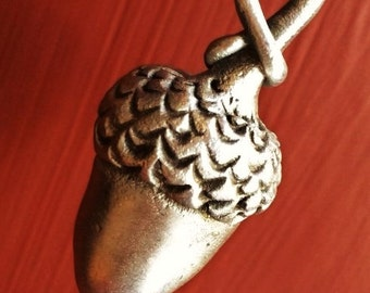 Pewter Acorn Key Chain or Ornament