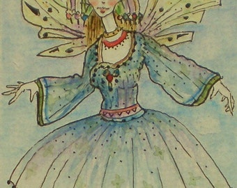 Aceo Miniature Picture Art Trading Card Fairy Fantasy Picture Drawing