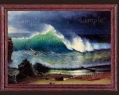 Crashing Sea Wave Miniature Dollhouse Ocean Art Picture 1893