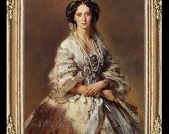 1800's Empress Lady Miniature Dollhouse Picture Art 6782