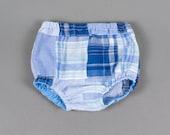 Baby boy diaper cover boys nappy cover blue plaid diaper cover toddler diaper cover- To the Max