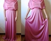 Vintage Pink Disco Dress Vintage Maxi Dress Size Small Medium Gift For Her