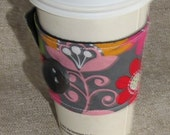 Floral Sleeve Cup Cozy