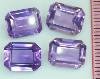 8 CTS purple amethyst lot octagon cut, Brazil