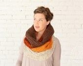 WINTER SPECIAL | The Ombré Cowl | Amber | Chunky Knit Ombré Oversized Huge Textured Winter Cowl Scarf