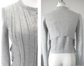 Structured Fleece Moto Jacket in Heathered Gray Cotton Poly Sweatshirt Fleece
