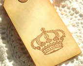 Vintage Crown Tags 6pcs