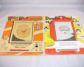 Wooly Willy and Doodle Poodle Magnet Wand Toy