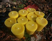 Lot  of 6 ...100% pure beeswax candle votives
