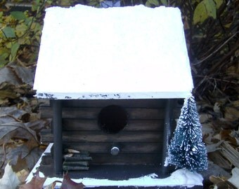 Small Birdhouse Painted Wood Birdhouse School By Demmersart