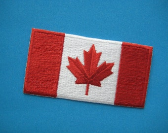 Iron-on embroidered Patch Canada flag 2.75 inch