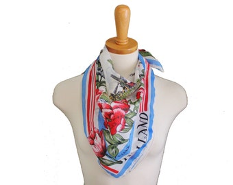 Vintage 60s Holland Windmill Souvenir Scarf - EH Holland