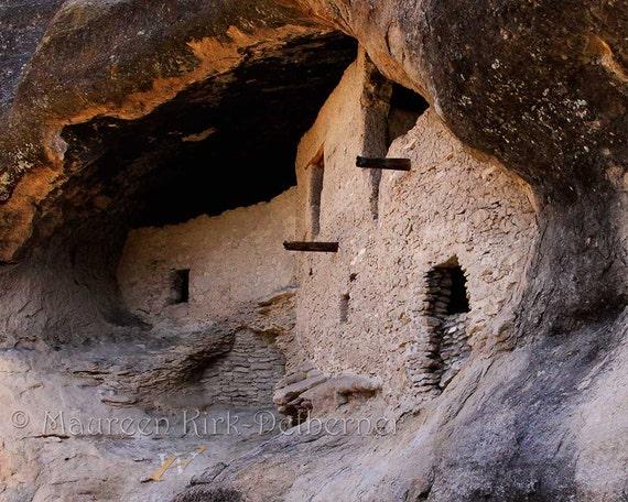 Ancient landscape, southwestern decor, Native American, New Mexico, Old Pueblos, large print 16 x 20, earth tones, western decor