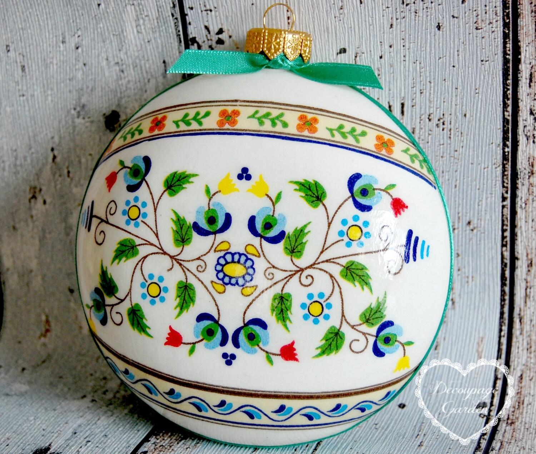 Boule de no l ornements de no l no l polonais par decorativegarden - Boule de noel en anglais ...
