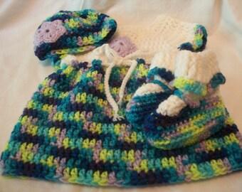 Variegated Blueberry Baby Set (Newborn)