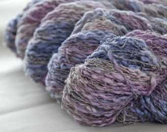 LAVENDER Cotton Linen Yarn 100gr/3.5oz