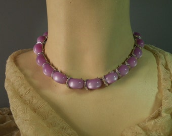 Vintage Lilac Thermoplastic Necklace