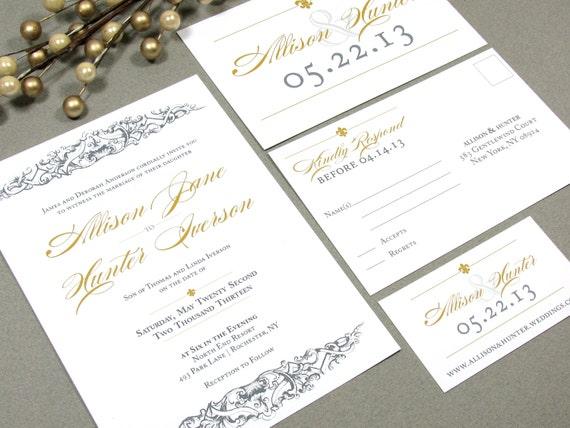 Baroque Wedding Invitations: French Baroque Fleur De Lis Wedding Invitation By