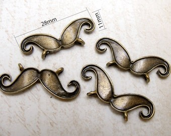 5pcs mustache, silver / antique brass  / gunmetal / gold Plated Charms Pendant
