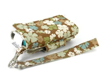 Cell Phone Wallet, Wristlet for iPhone/Galaxy - The Errand Runner - Chipper Spa/Khaki