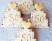 50th Wedding Anniversary Cake Cookie