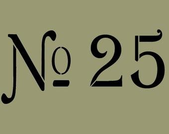 STENCIL  No 25 11X5