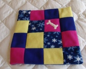XS Fleece Dog Blanket - snowflake
