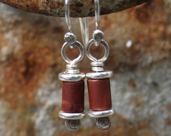 Reels - silver and jasper earrings